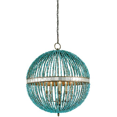 cupertino and turquoise five light alberto turquoise orb chandelier currey company globe p - Turquoise Chandelier Light