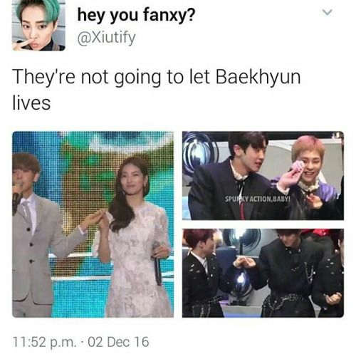 They're never going to let Baekhyun live this down^.^