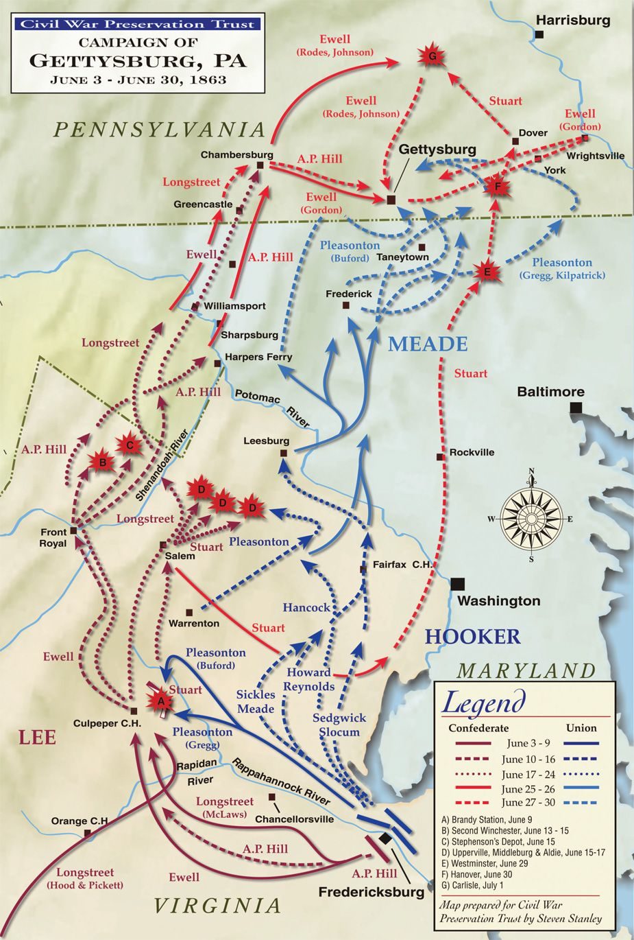Gettysburg Campaign Map | American civil war, Gettysburg ... on gettysburg historic site map, gettysburg johnny reb trail guide, gettysburg national history, gettysburg tour map, gettysburg cemetery map, gettysburg city map, gettysburg national visitor center, gettysburg visitor center gift shop, gettysburg visitor center hours, pennsylvania national parks map, gettysburg south dakota map, cemetery hill map, gettysburg address map, gettysburg walking map, gettysburg tourism map, gettysburg virginia map, gettysburg pennsylvania on us map, gettysburg topographic map, jackson parish louisiana map, gettysburg monuments map by state,