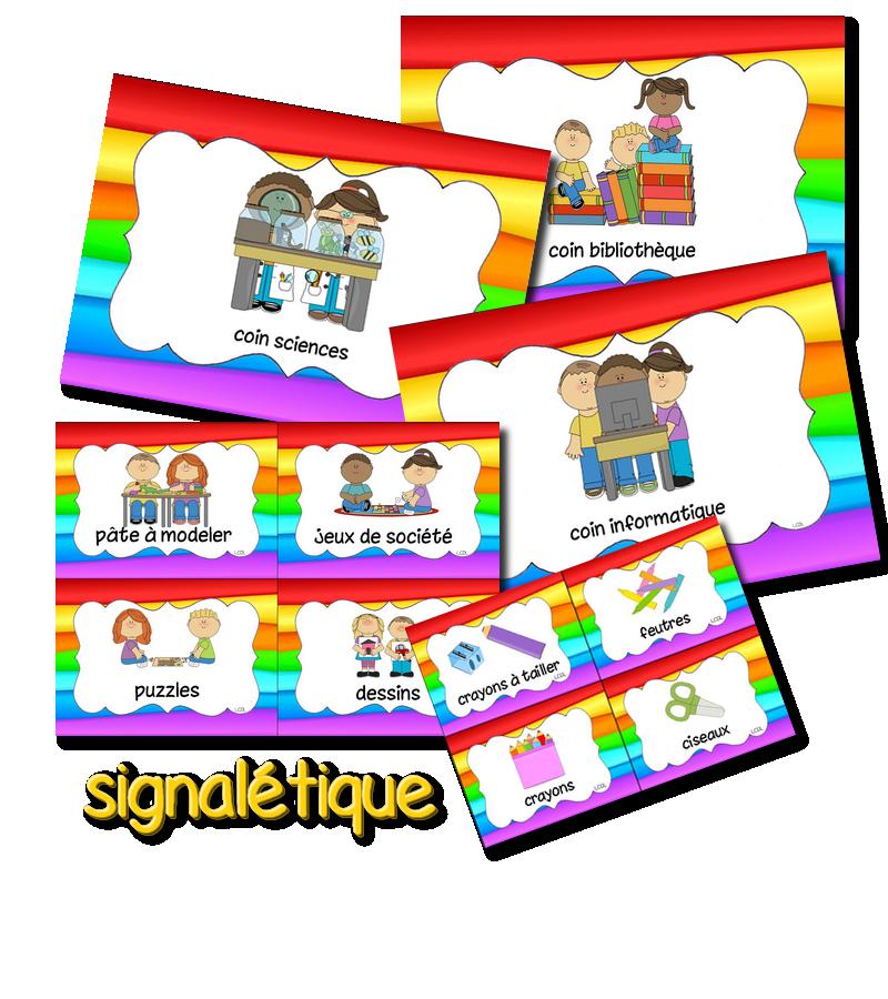 Fabuleux La maternelle de Laurène: Signalétique | Imagier, domino,bingo  NU52