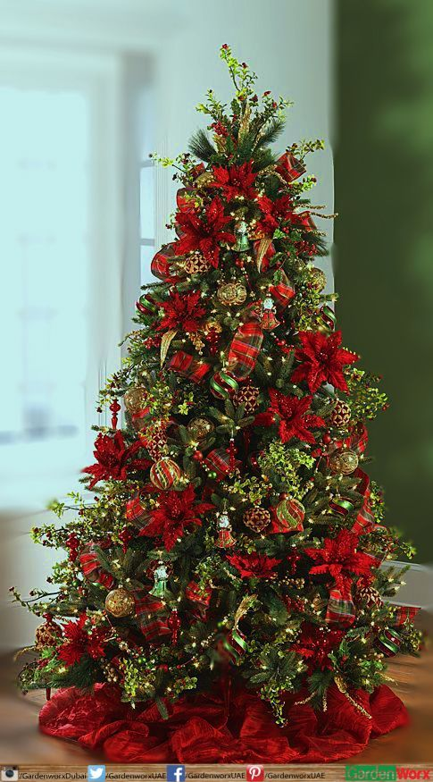 60 Red and Green Christmas Decorations Because Del