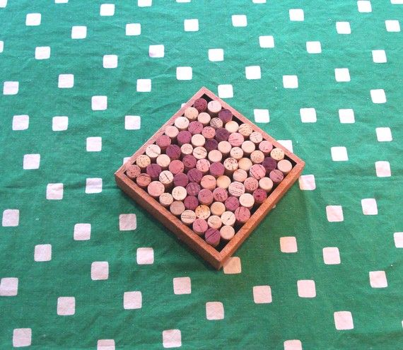 Wine Cork Trivet repurposed from a wall decoration, $11.99