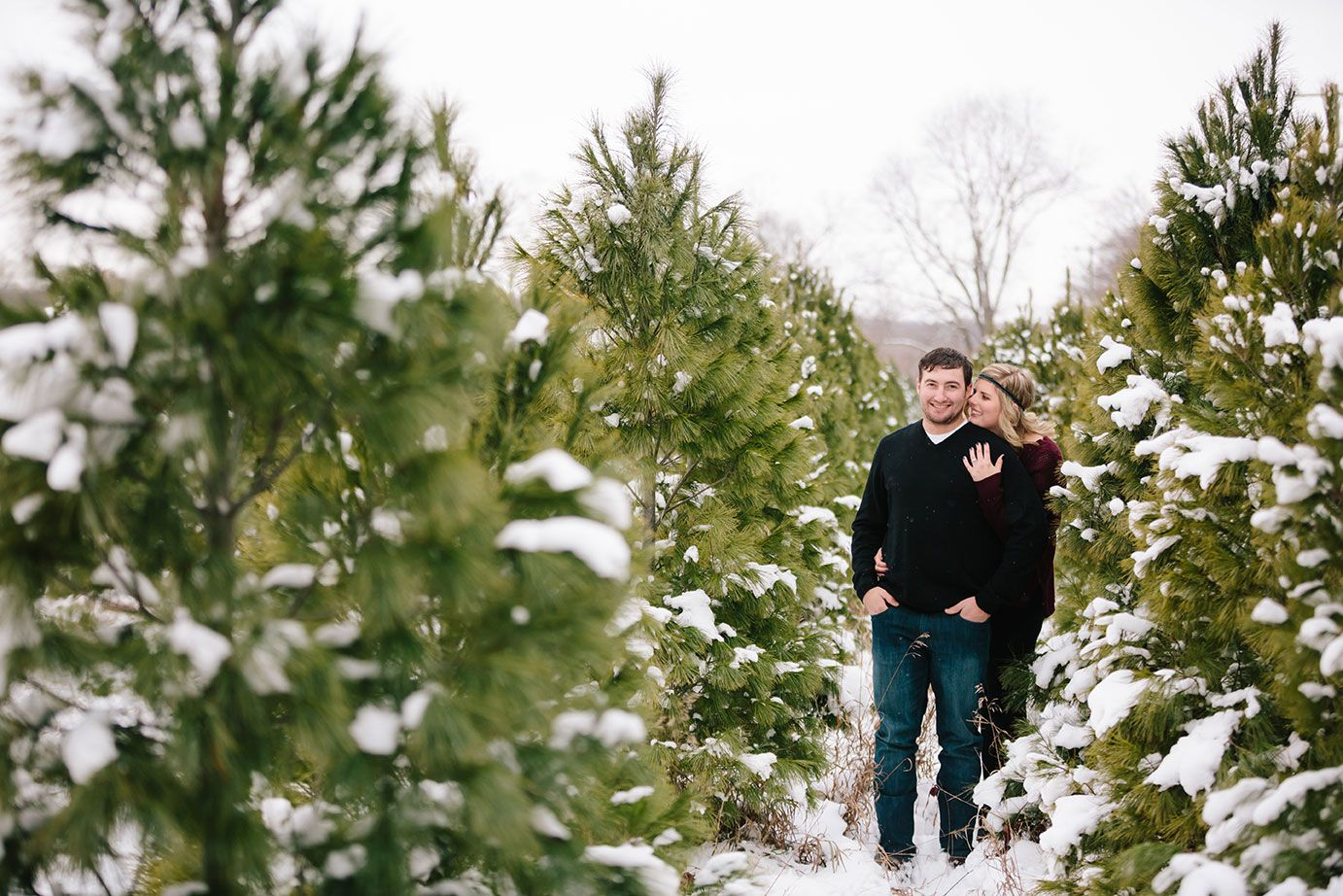 Christmas Tree Farm Engagement Tucker Gabby Mae Photo Christmas Tree Farm Tree Farms Photo