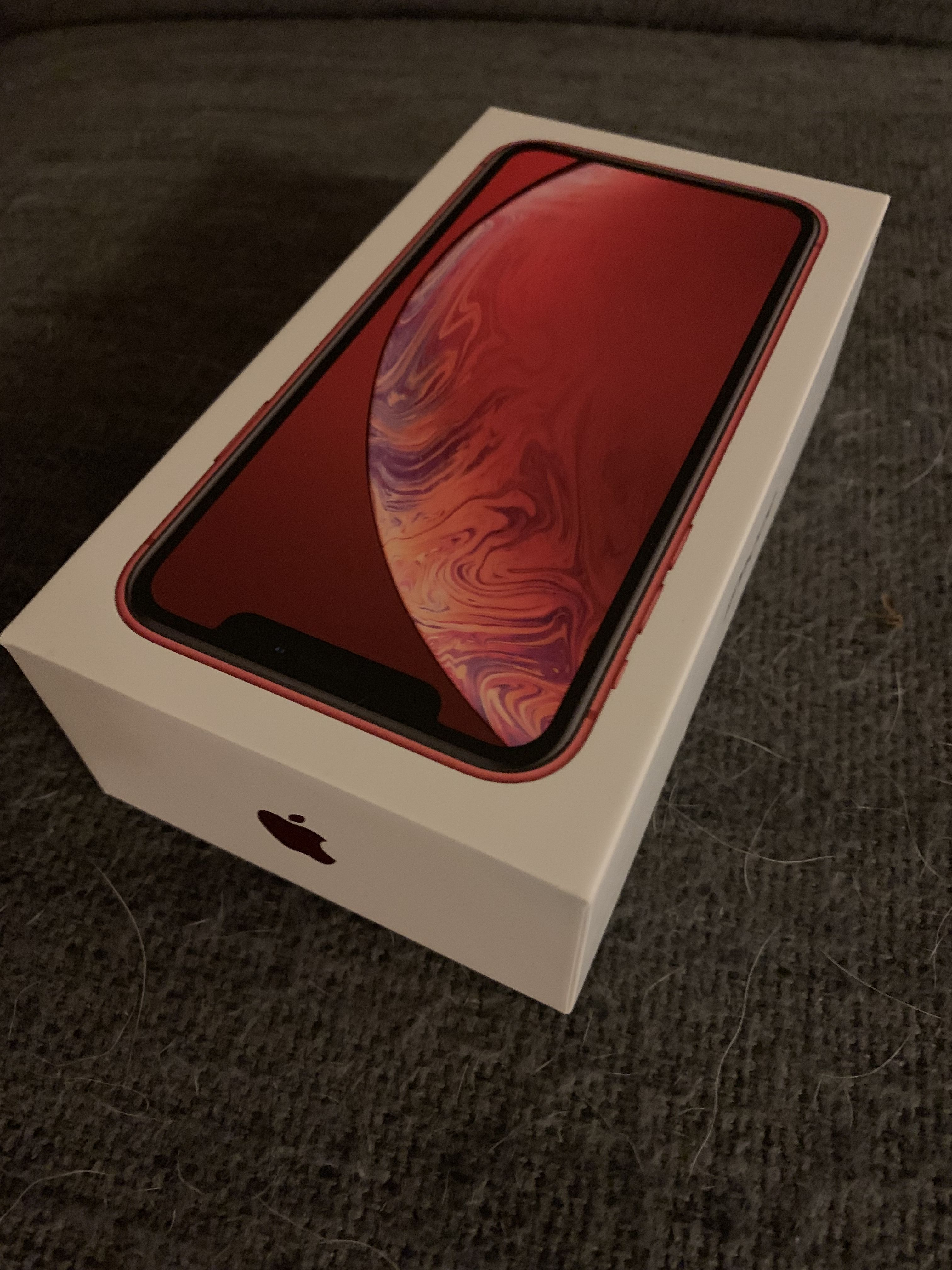 My new iphone xr red 128gb new iphone new apple watch