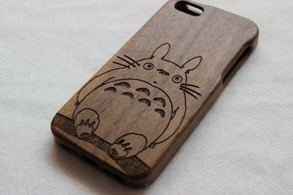 iphone 5s case , Wood iphone 5 case , Engraved My Neighbor Totoro ...