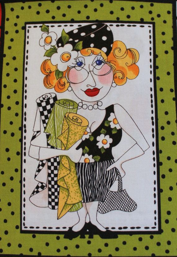 """Loralie sew fabulous fabric applique iron on lady 6/""""  inch"""