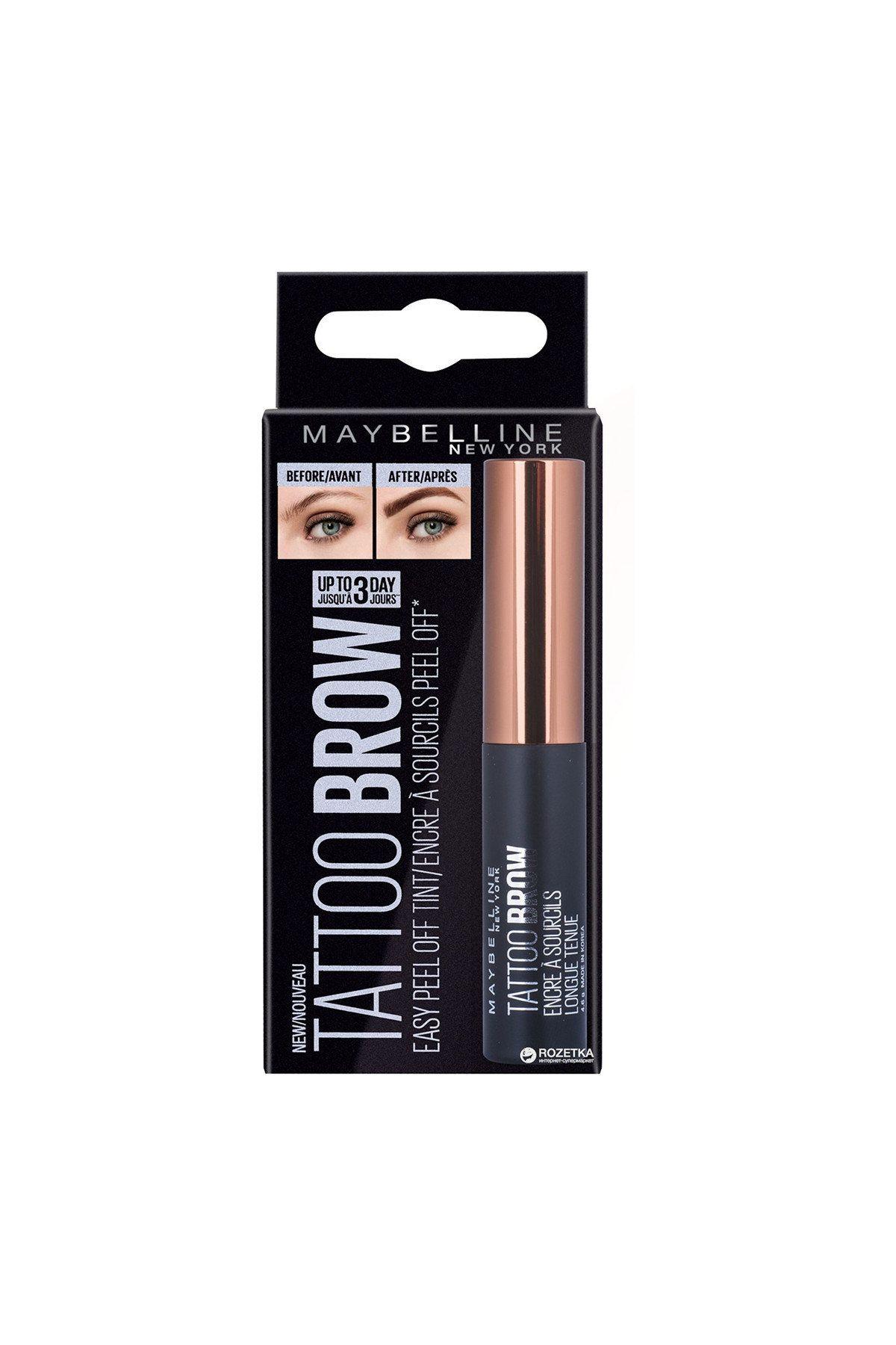Brow Tattoo Gel Tint Dark Brown maybelline brand online