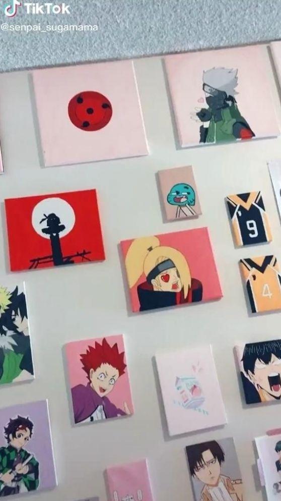 Tiktok Senpai Sugamama Anime Canvas Anime Canvas Art Anime Crafts
