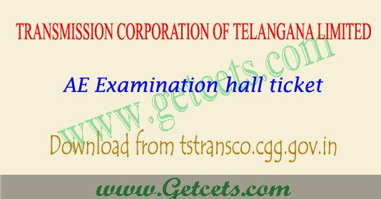 TS Transco hall tickets 2018 download AE posts exam Exam