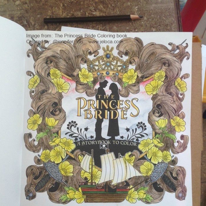 The Princess Bride Coloring Book Title Page Wip Coloring Books Colorful Drawings Princess Bride