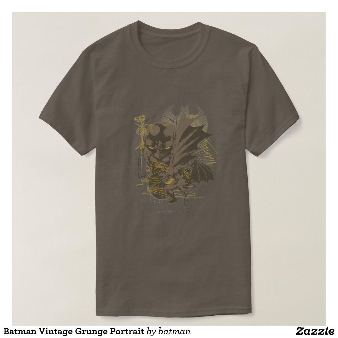 Batman Vintage Grunge Portrait T Shirt