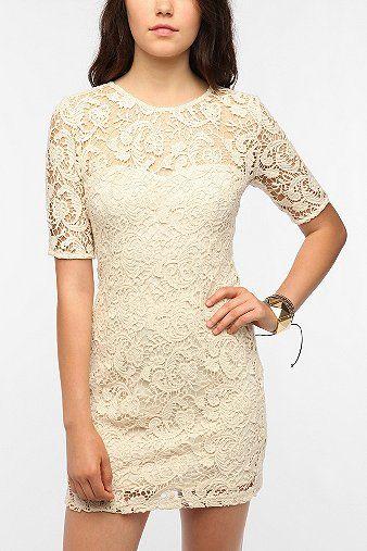 Sparkle & Fade Lace Trompe L'oeil Dress