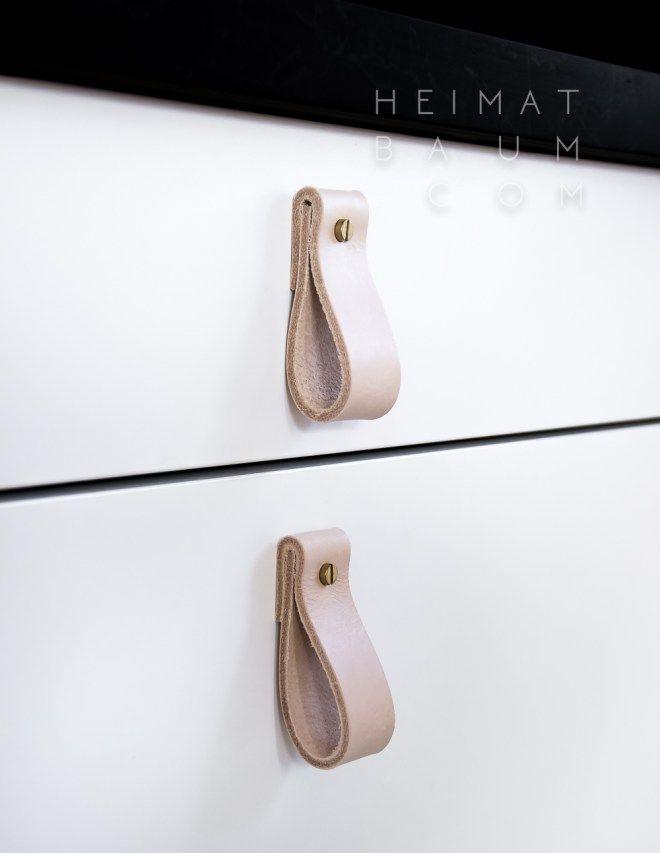 schubladengriffe aus leder diy heimatbaum. Black Bedroom Furniture Sets. Home Design Ideas