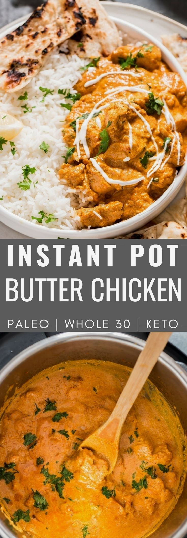 Make restaurant style Instant Pot butter chicken with authentic taste following this Indian butter chicken recipe. This is quick and easy Paleo Instant Pot Butter Chicken recipe . It's rich, creamy, not too spicy, buttery and packed full of flavors. 15 Awesome Keto Instant Pot Ideas #keto_diet_recipes #instantpotchickenrecipes