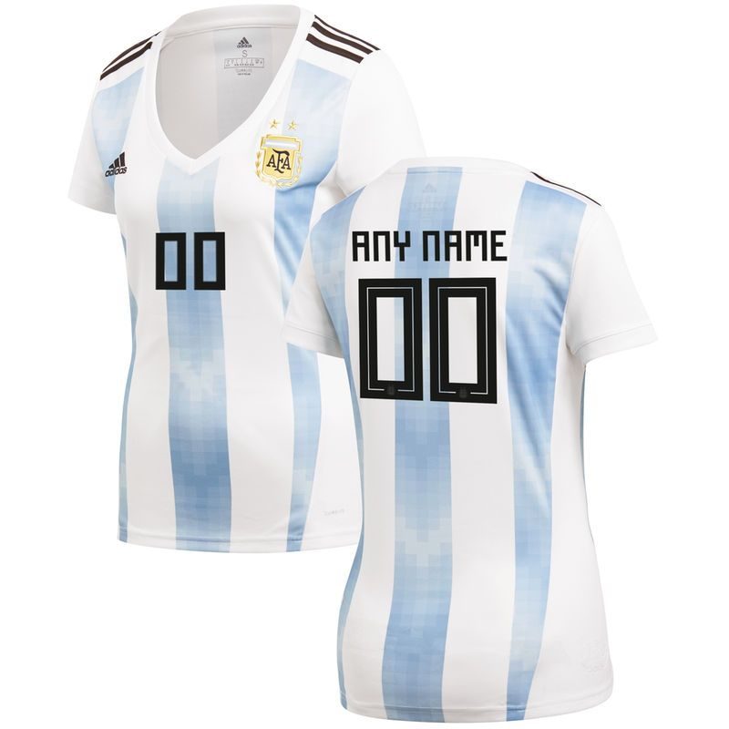 Argentina National Team adidas Women s 2018 World Cup Home Replica Custom  Jersey – White e0ef4fe2c0