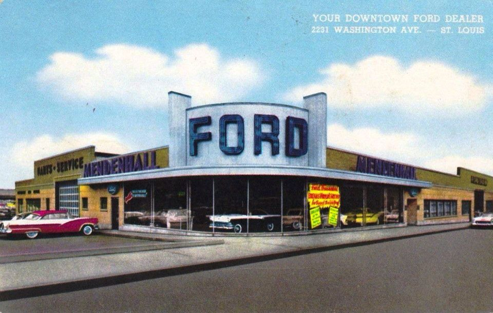 Ford Dealer on Washington Ave. St Louis, MO Old Car