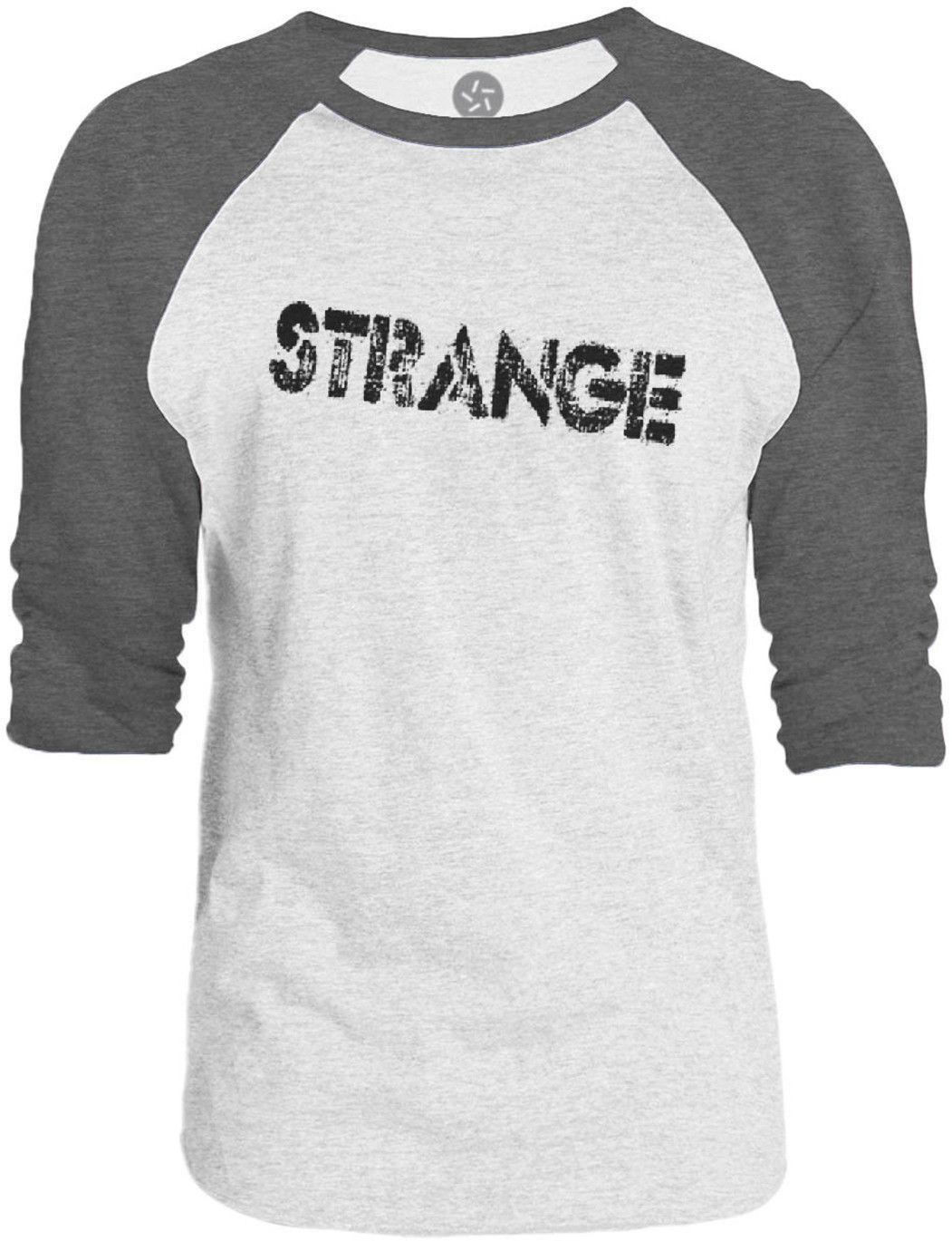 Big Texas Strange (Black) 3/4-Sleeve Raglan Baseball T-Shirt
