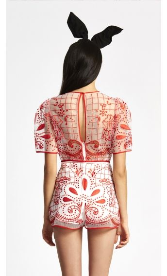 c25d3ad42a alice McCALL Space Is Only Noise Playsuit Red