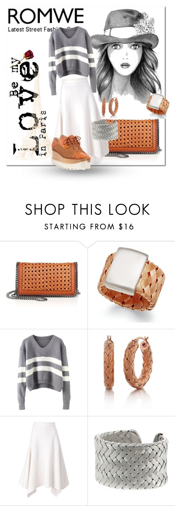 """""""Romwe / Be my Love in Paris"""" by emperormpf ❤ liked on Polyvore featuring STELLA McCARTNEY, Roberto Coin, women's clothing, women, female, woman, misses and juniors"""