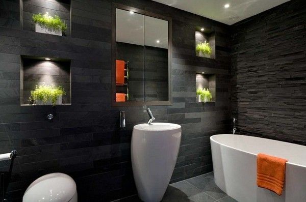Stunning Bathroom Design With Black Granite Tiles Home Interior Naturalstone