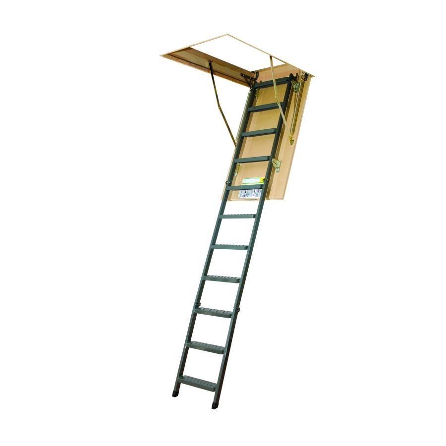 Shop Fakro 8 7 8 Ft Steel 350 Lb Type Iaa Attic Ladder At Lowes Com Attic Renovation Attic Ladder Attic Remodel