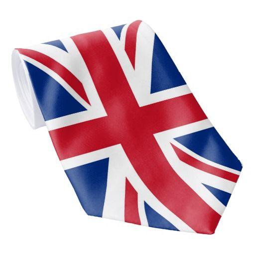 NEW United Kingdom UK Union Jack Flag Great Britain Tie