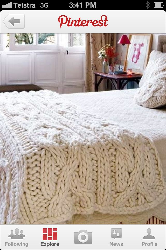 Knitted Bed Runner Cable Knit Blankets Blanket Knitting