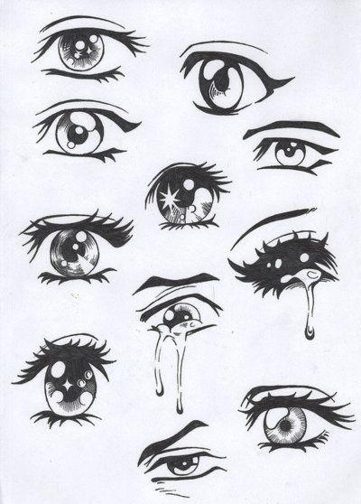 How to draw animemanga eyes