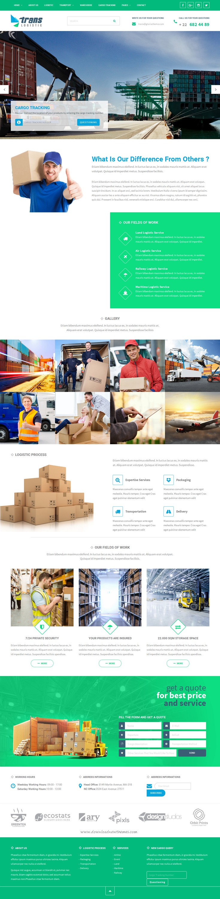Trans #Logistic is best Responsive WordPress Theme for Transport