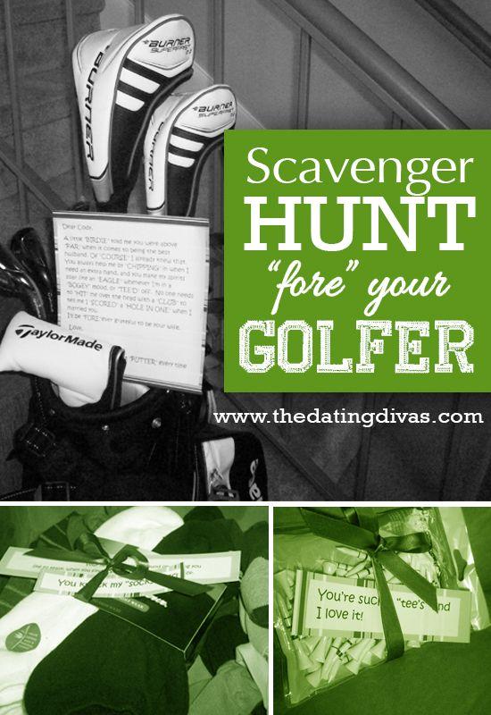 Fore De Golfer Scavenger Hunt Romantic Gift Ideas For