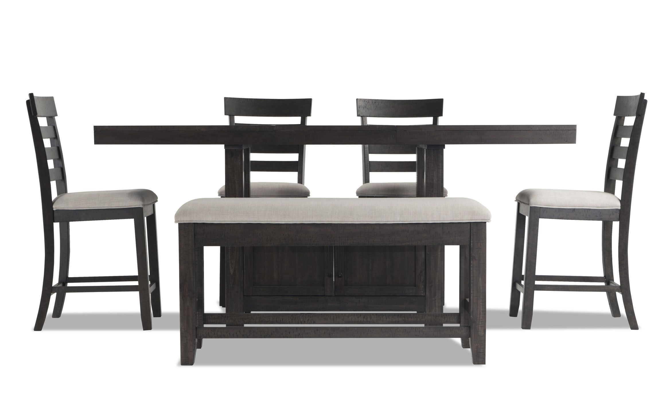 Sonoma 6 Piece Counter Set With Storage Bench Dining Room Design