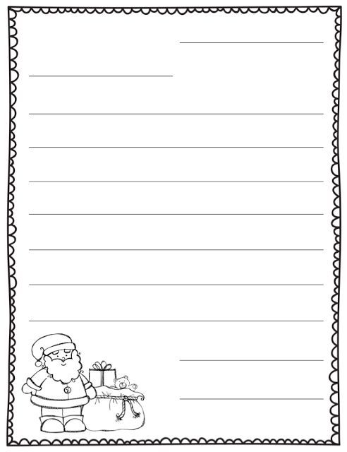 letter to santa blank template Teaching Christmas Pinterest - christmas letter template free