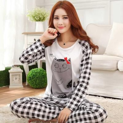 acda3b4979 New Listing WAVMIT 2018 Autumn Pyjamas Women Carton Cute Pijama Pattern  Pajamas Set Thin Pijamas Mujer Sleepwear 90S Wholesale