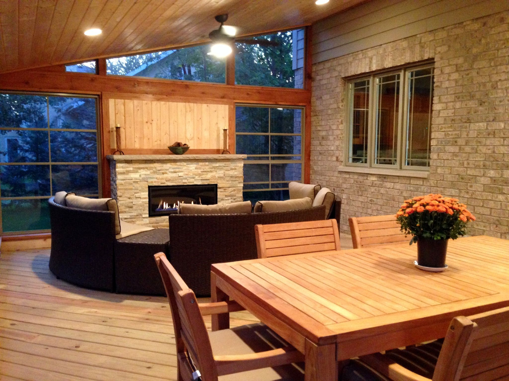 Screened In Porch Fireplace Ideas How Much Does A Chicagoland Cost