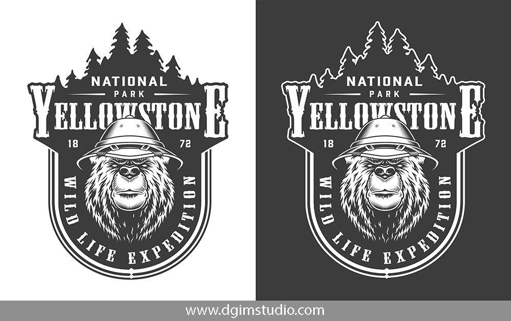 Vintage Outdoor Badges Set Badge design, Unique poster