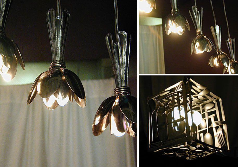 Upcycling 8 Ideen Fur Lampen Aus Alltagsgegenstanden Ausgefallene Lampen Selbstgemachte Lampenschirme Diy Lampen