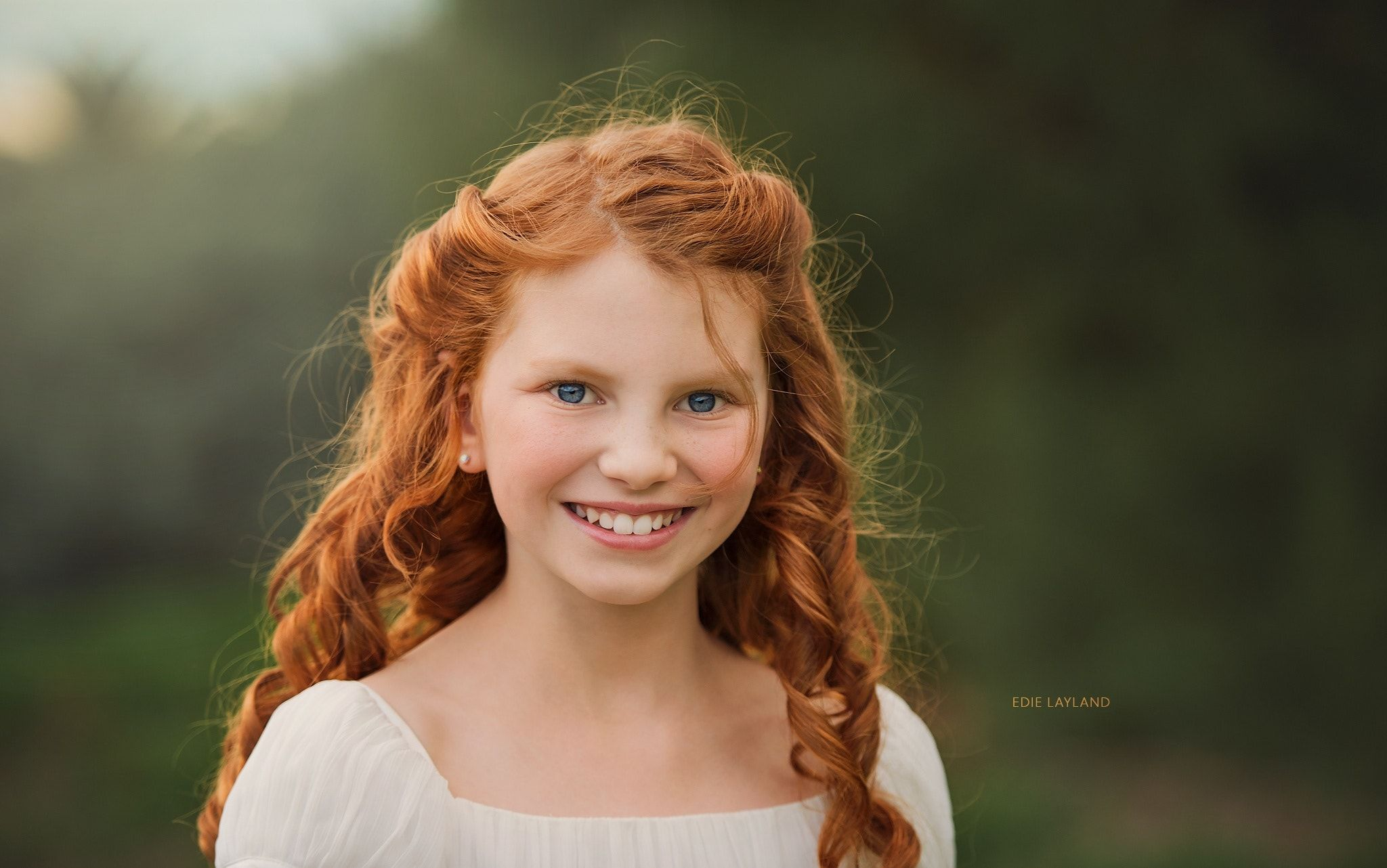 Natural redhead outdoors