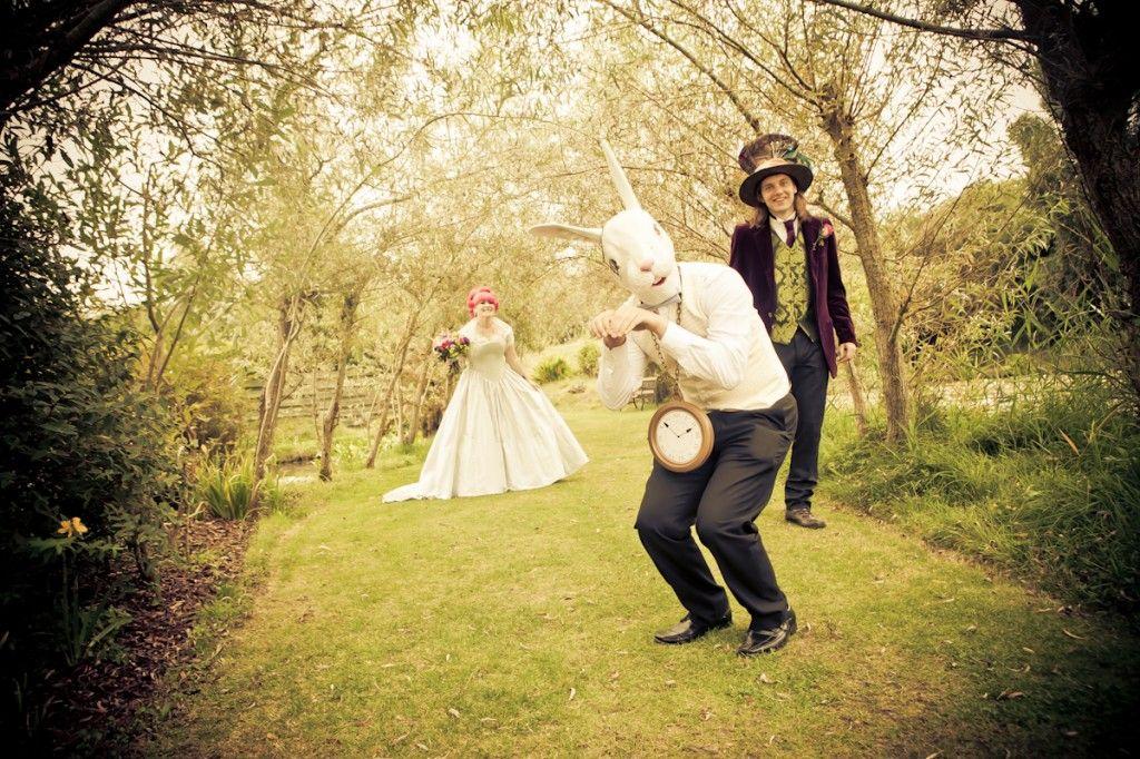 Boda de cuento. Alicia en el pais de las maravillas. #boda #original