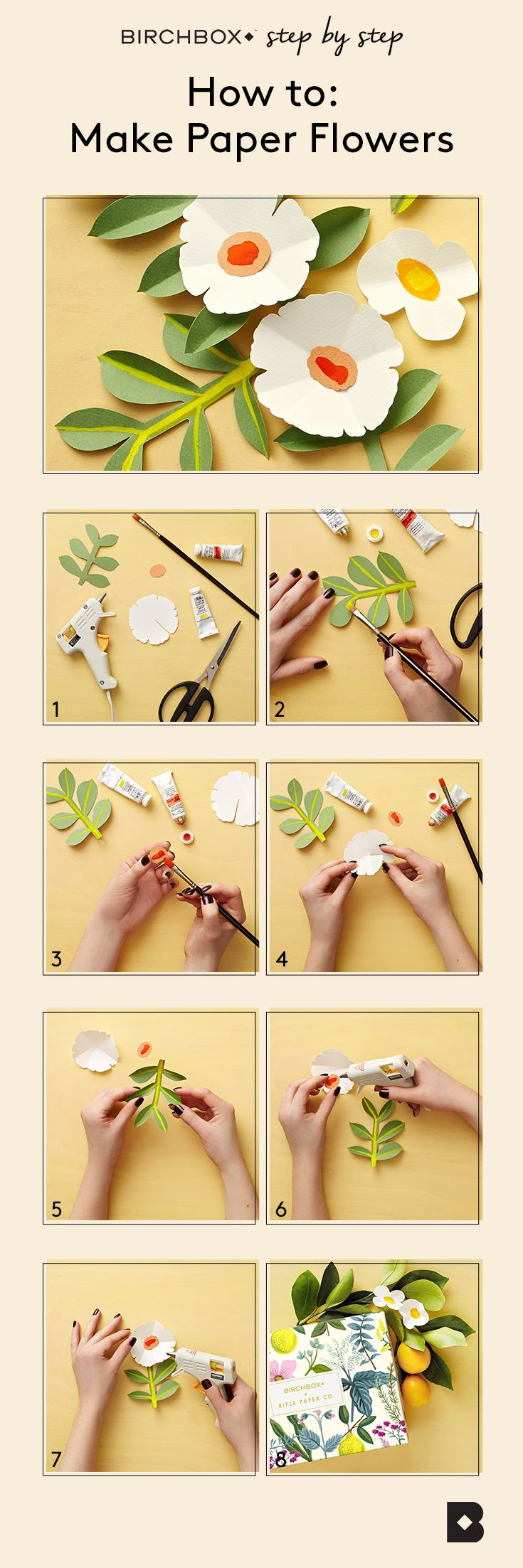 Diy How To Make Your Own Rifle Paper Co Inspired Flowers If Only