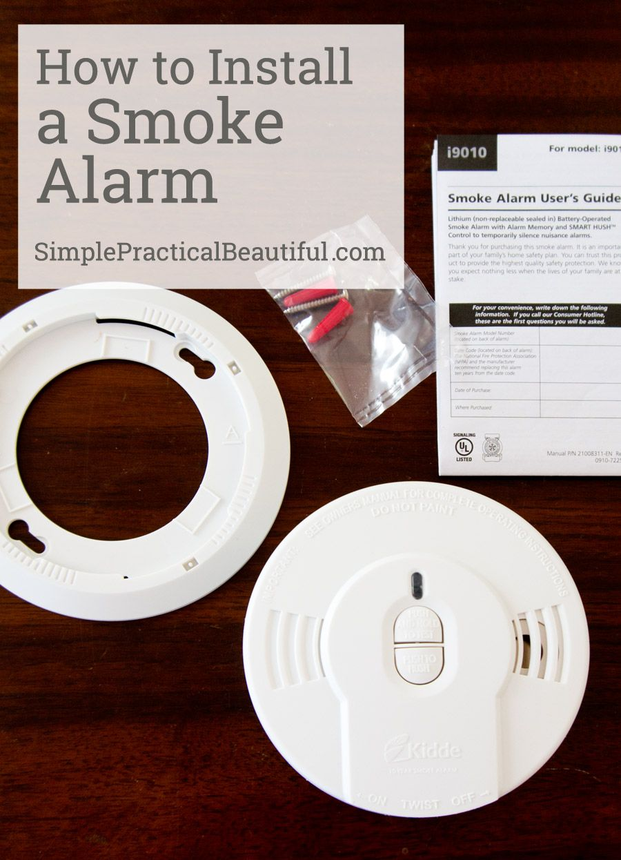 how to install a smoke alarm in your home stay safe and be prepared for an emergency  [ 900 x 1246 Pixel ]
