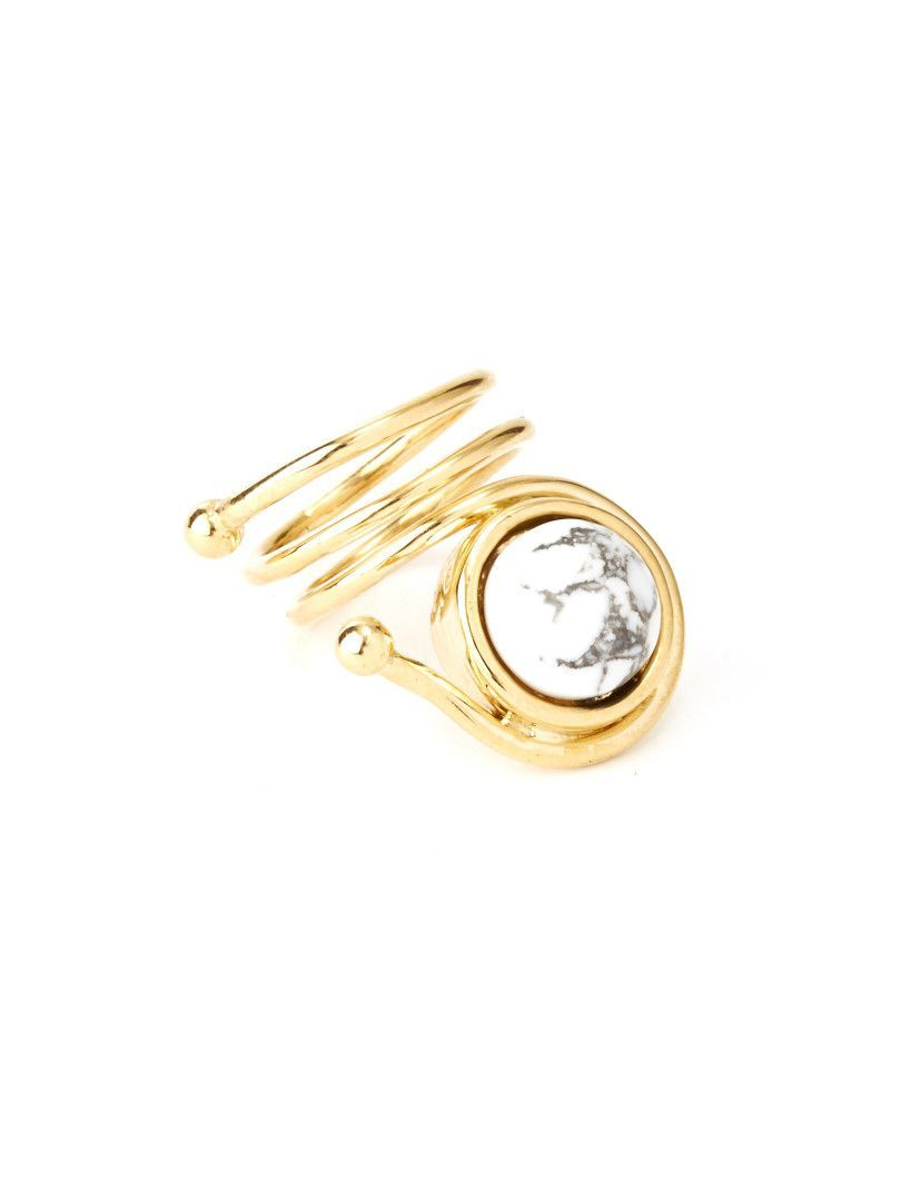 Marble Coil Ring