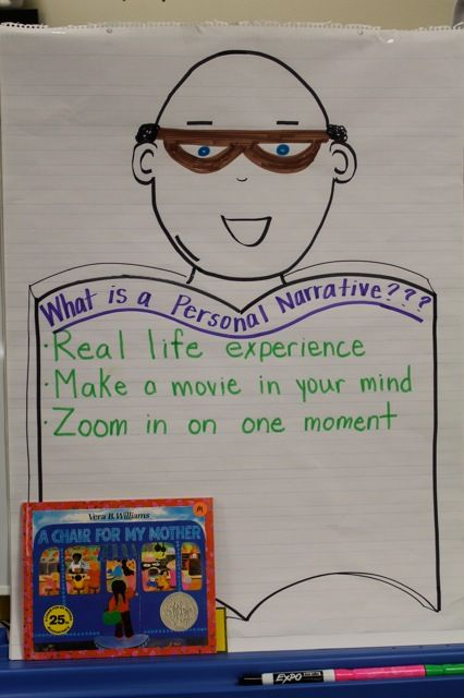 Poster defining what a personal narrative is.