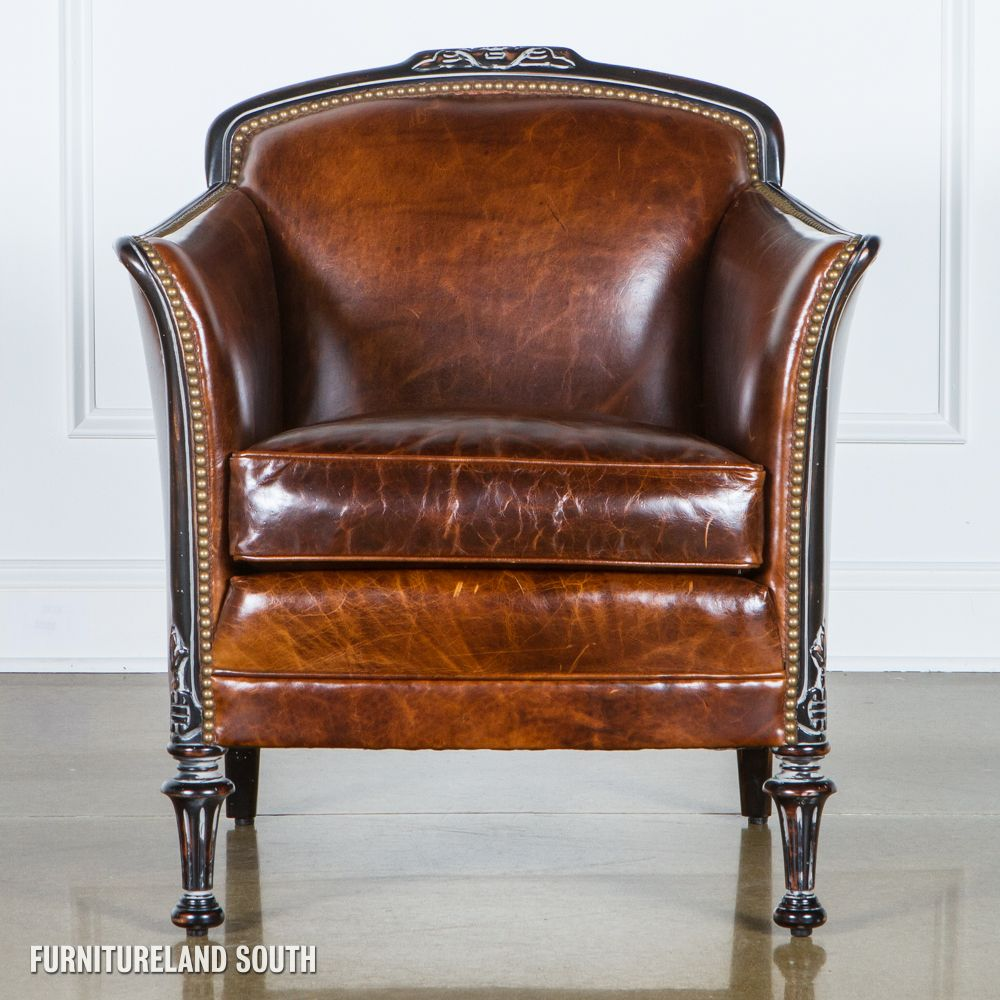 Best Classic Leather Brown Stationary Leather Chair With 400 x 300