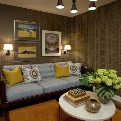 Family Room Yellow Wallpaper Border Design Ideas Pictures Remodel And Decor Interior Design Styles Nyc Interior Design Interior Design