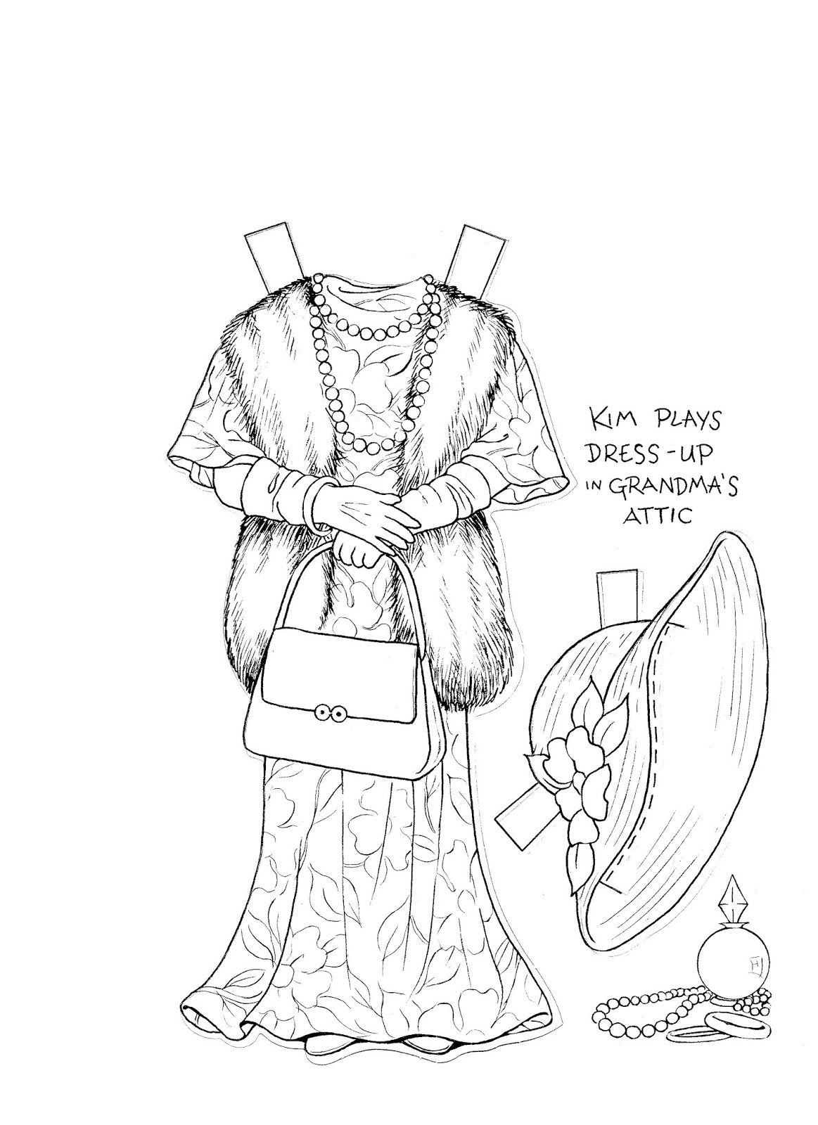 KIM\'S Paper Doll Ccoloring Book {} Eight Pages of Kim\'s Favorite ...