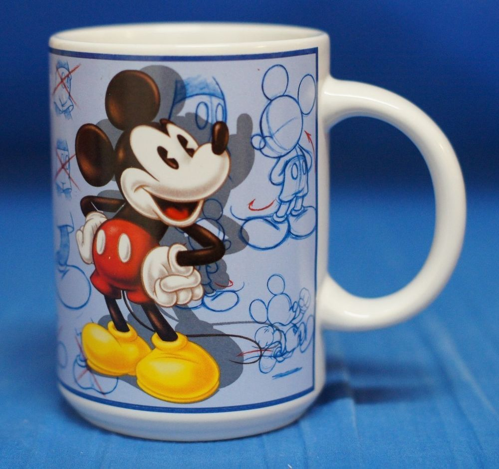 Mickey Mouse Artist Model Sheet Sketches Ceramic Mug Cup Disney Store #DisneyStore