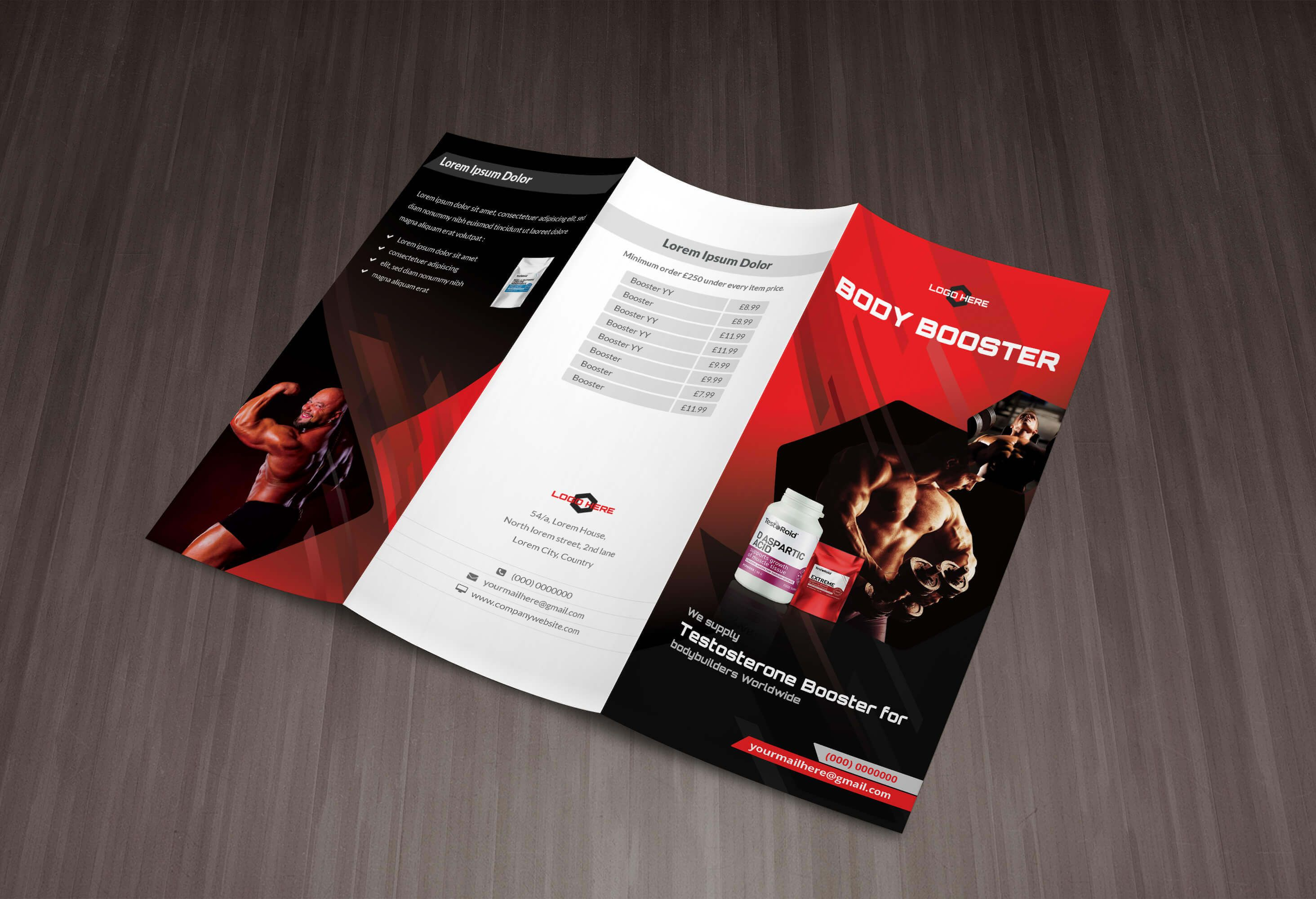 Fitness Trifold Brochure  Find More At DesignresourcesIo  Free