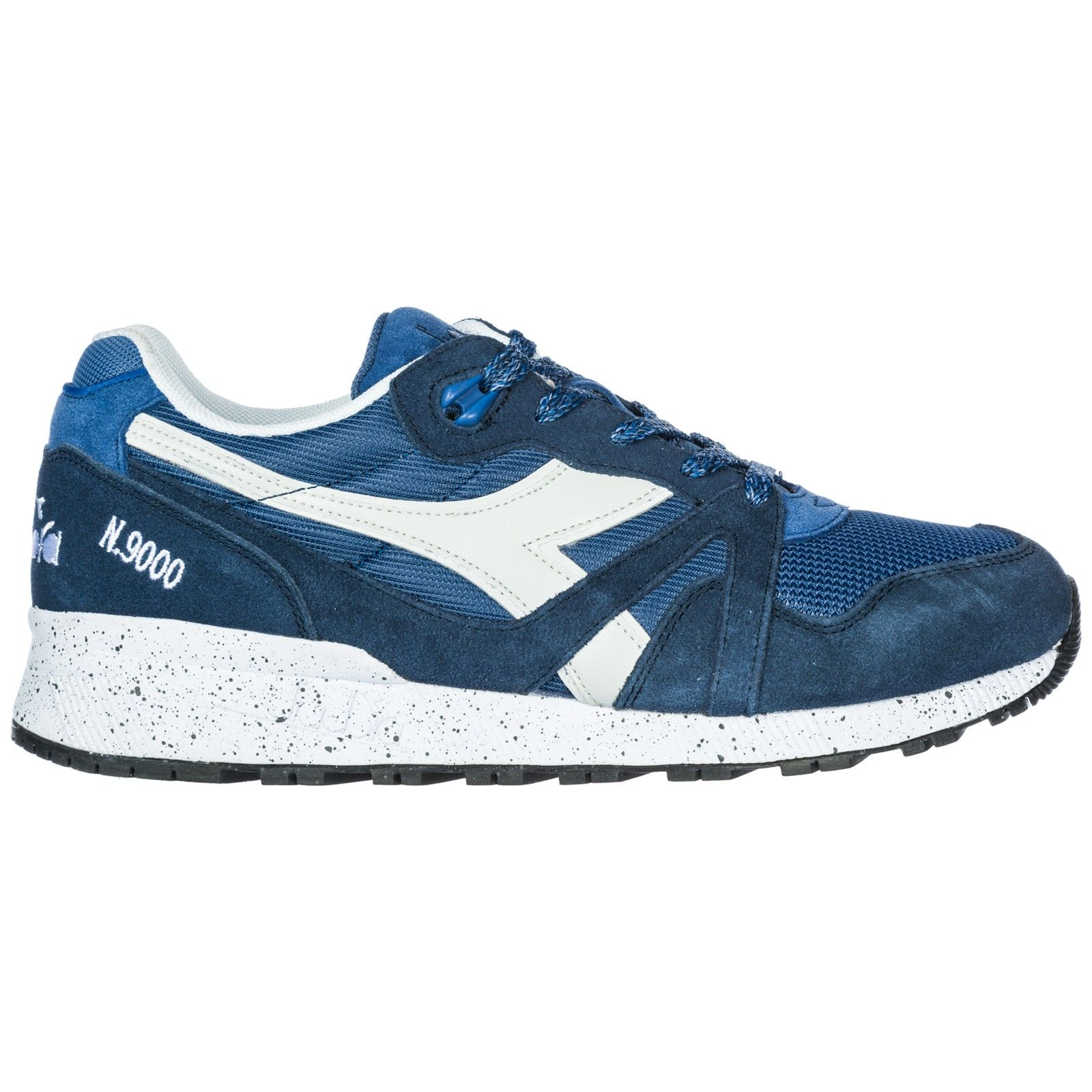 DIADORA MEN'S SHOES SUEDE TRAINERS SNEAKERS N9000 SPECKLED