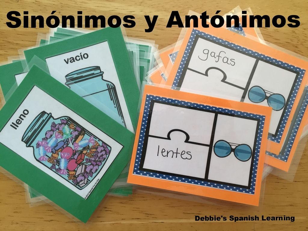 Teaching Synonyms and Antonyms Spanish Learning/ Teaching ... - photo#46