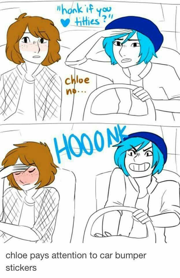Life is strange chloe pays attention to car bumper stickers